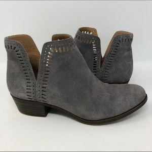 Lucky Brand LP Bustina grey suede booties size 10